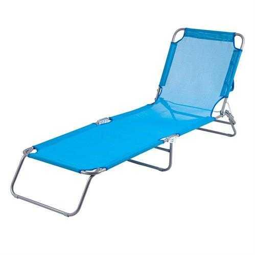 מיטת שיזוף בצבע כחול השכרת ציוד לאירועים