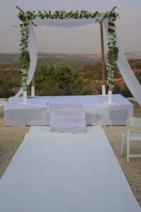 הפקת חתונות בטבע- חופה בנוף ההרים