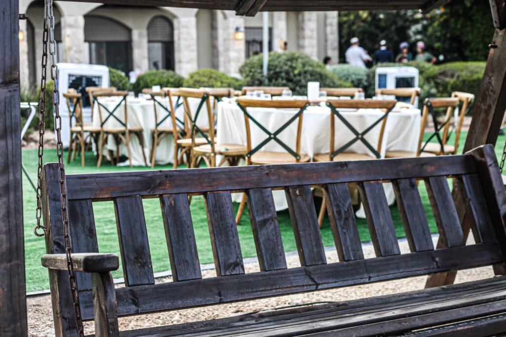 עיצוב אירועים בהתאמה לקונספט, חתונה בחצר